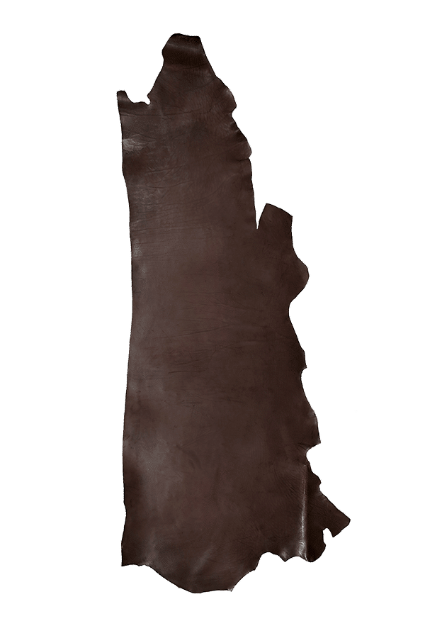 Drum Dyed Back Havana Leather Hide