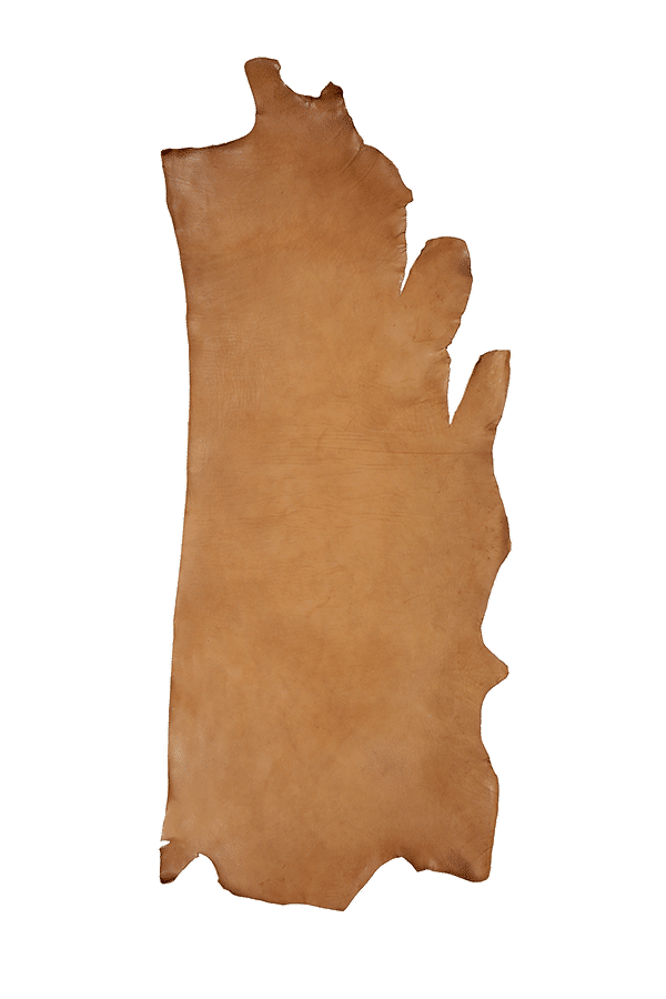 Drum Dyed Back Tan Leather Hide