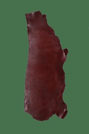 Latigo Side Burgundy Leather Hide