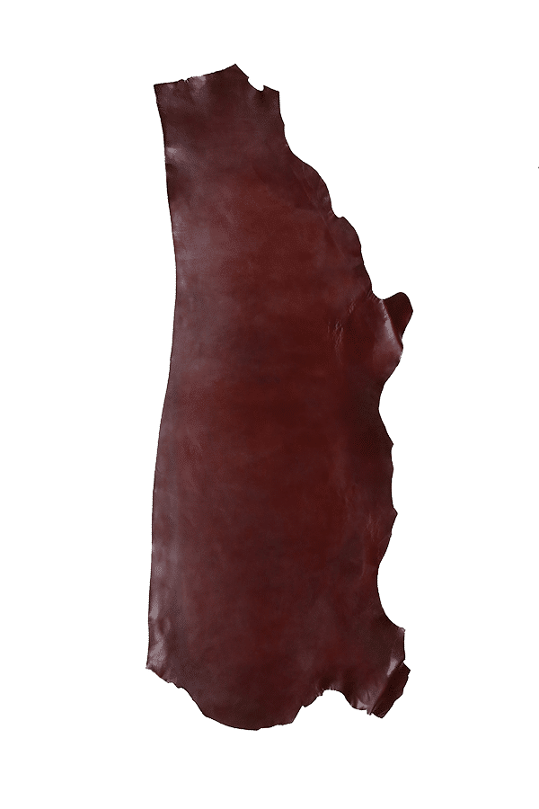 Latigo Side Burgundy Leather Hide